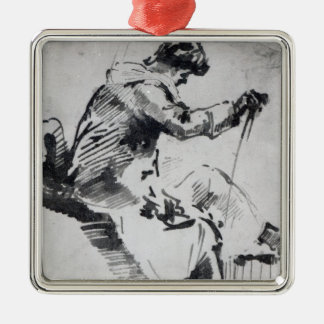 Seated man christmas ornament