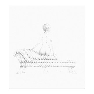 Seated Nude Canvas Prints