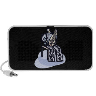 Seated Orchestral Stringed Instrument Player Graph iPod Speakers