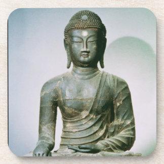 Seated Sakyamuni Buddha from Ch'ungung-ni (iron) Beverage Coasters