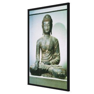 Seated Sakyamuni Buddha from Ch'ungung-ni (iron) Canvas Print