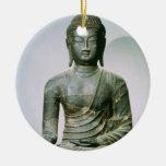 Seated Sakyamuni Buddha from Ch'ungung-ni (iron) Christmas Ornament