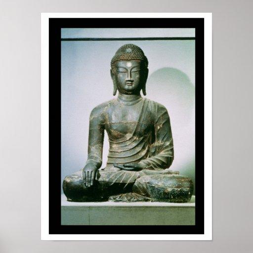Seated Sakyamuni Buddha from Ch'ungung-ni (iron) Poster