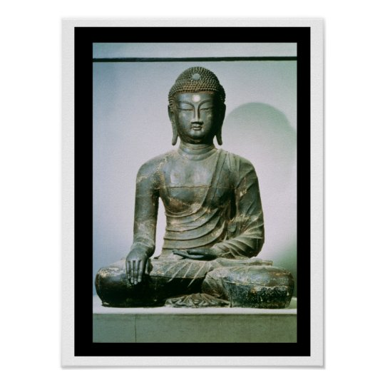 Seated Sakyamuni Buddha from Ch'ungung-ni (iron) Poster