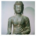 Seated Sakyamuni Buddha from Ch'ungung-ni (iron) Tile