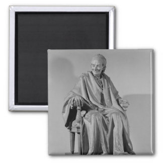 Seated sculpture of Voltaire Magnet