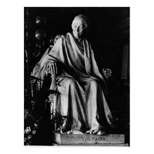 Seated sculpture of Voltaire Postcard