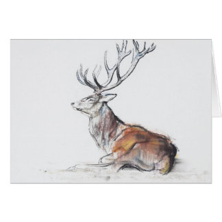 Seated Stag 2006 Greeting Card