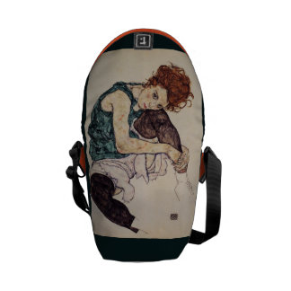 Seated Woman ~ Egon Schiele ~Austrian Painter 1917 Commuter Bags