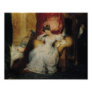 Seated young women 1827 poster