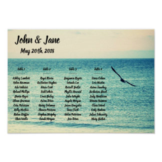 Seating Chart Poster - Seagull Design