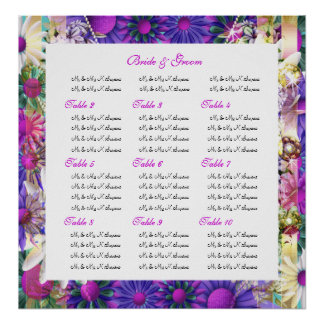 Seating charts wedding pink corporate poster