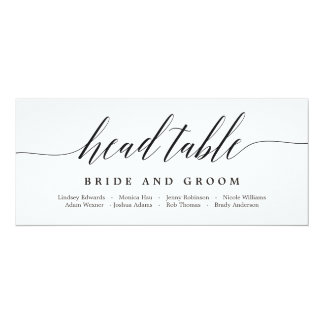 Seating Plan Head Table Card - Modern Script