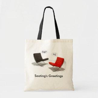 Seating's Greetings Budget Tote Bag