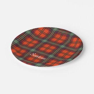 Seaton clan Plaid Scottish kilt tartan Paper Plate