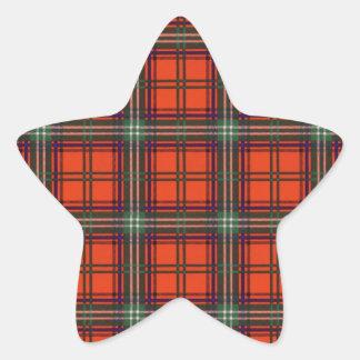 Seaton clan Plaid Scottish kilt tartan Star Sticker