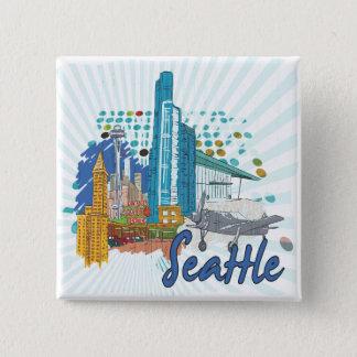 Seattle 15 Cm Square Badge