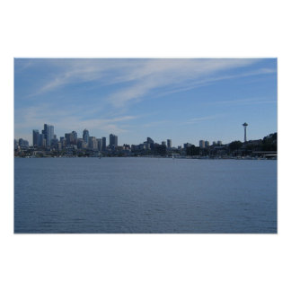 Seattle and Lake Union Poster