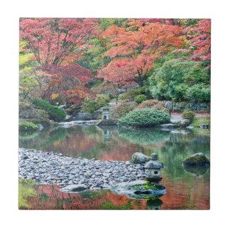 Seattle, Arboretum Japanese Garden Small Square Tile