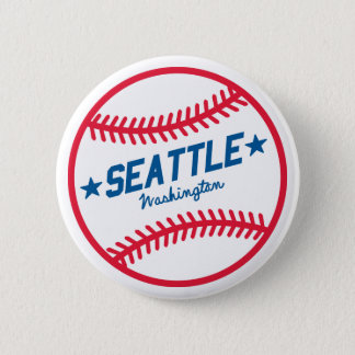 Seattle Baseball 6 Cm Round Badge