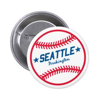 Seattle Baseball 6 Cm Round Badge