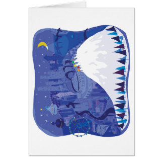 Seattle blank Winter Holiday card, pillow, shirts Greeting Card