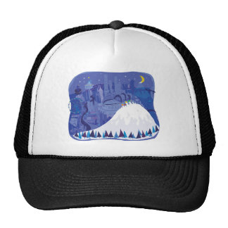 Seattle blank Winter Holiday card, pillow, shirts Cap