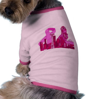 Seattle Breast Cancer Awareness Doggy Shirt Pet Clothing