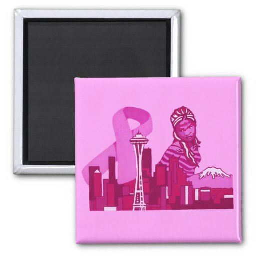 Seattle Breast Cancer Awareness Magnet