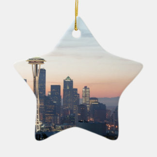 Seattle Ceramic Star Decoration