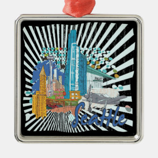 Seattle Christmas Ornament