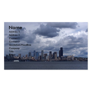 Seattle City Scape Pack Of Standard Business Cards
