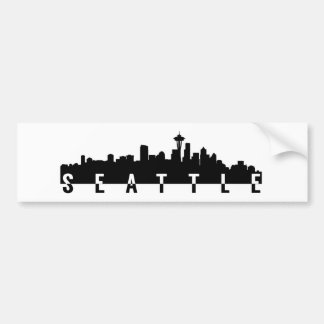 seattle city skyline silhouette black shape americ bumper sticker