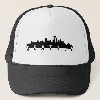 seattle city skyline silhouette black shape americ cap