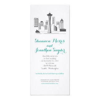 Seattle City Skyline Wedding Invitation