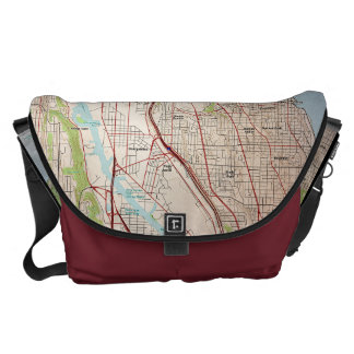 Seattle City Topographic Map Commuter Bag