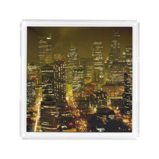 Seattle city view acrylic tray