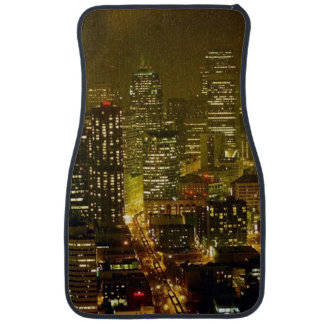 Seattle city view car mat