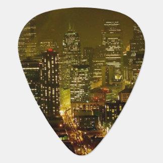 Seattle city view guitar pick