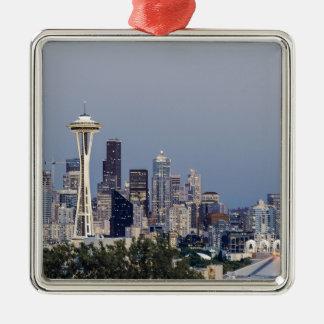 Seattle cityscape christmas ornament