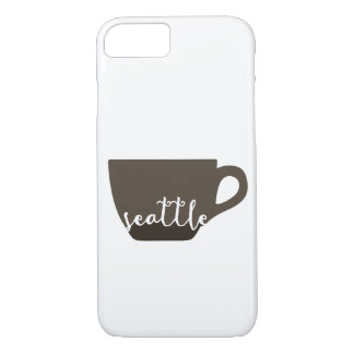 Seattle coffee mug illustration iPhone 7 case