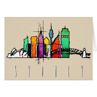 seattle colorful skyline card