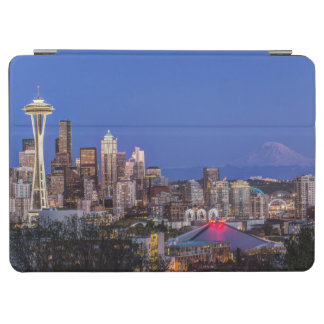 Seattle, Downtown and Mt. Rainier at Twilight iPad Air Cover
