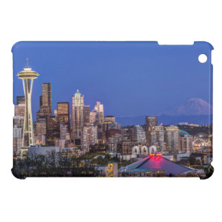 Seattle, Downtown and Mt. Rainier at Twilight iPad Mini Cover