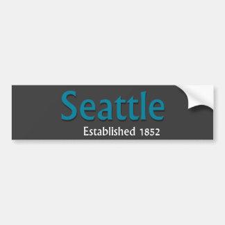 Seattle Established Vehicle Bumper Sticker