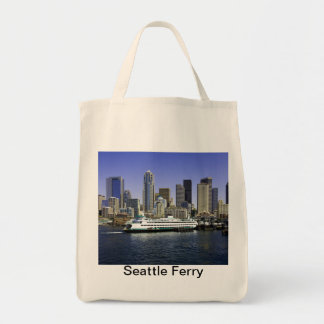 Seattle Ferry Washington State Grocery Tote Bag