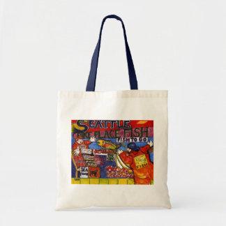 Seattle Fish Market Canvas Bag