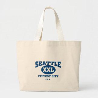 Seattle Fittest city Jumbo Tote Bag