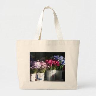 Seattle flowers canvas bag