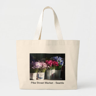 Seattle flowers photo tote bags